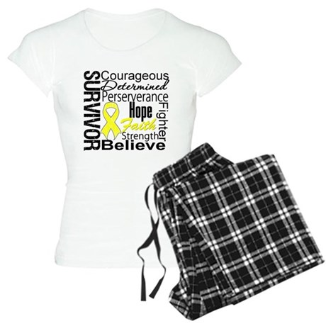 Sarcoma Survivor Collage Women's Light Pajamas