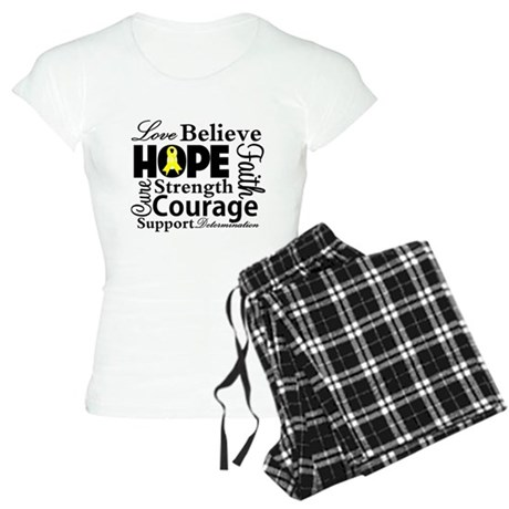 Sarcoma Hope Collage Women's Light Pajamas