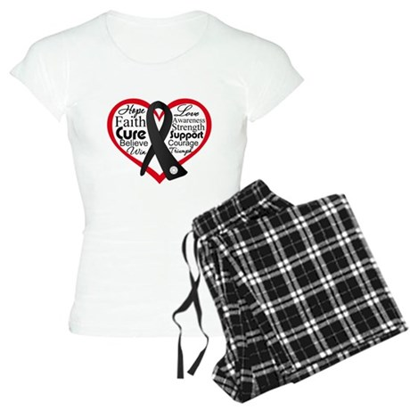 Skin Cancer Heart Women's Light Pajamas