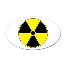 Yellow Radiation Symbol 22x14 Oval Wall Peel
