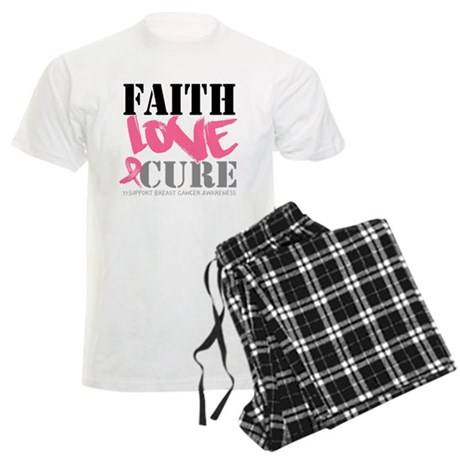 Faith Love Cure Breast Cancer Men's Light Pajamas