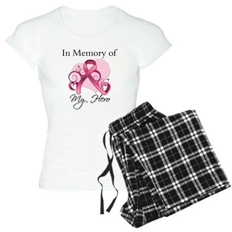 Breast Cancer In Memory Hero Women's Light Pajamas