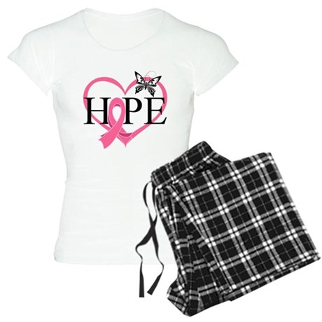 Breast Cancer Heart Decor Women's Light Pajamas