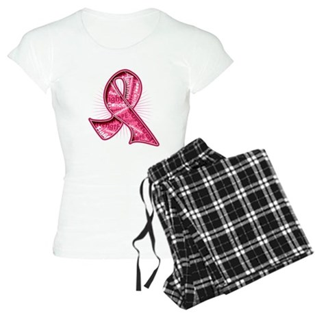 Breast Cancer Watermark Women's Light Pajamas