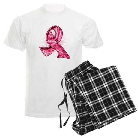 Breast Cancer Watermark Men's Light Pajamas