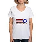 Donald Trump 2012 President Women's V-Neck T-Shirt