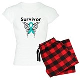 Ovarian Cancer Butterfly-Surv pajamas