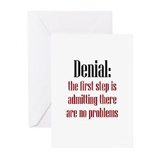 First Step of Denial Greeting Cards (Pk of 20)
