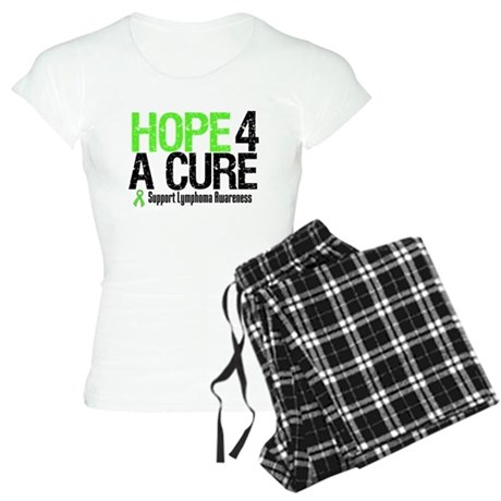 Lymphoma Hope 4 a Cure Women's Light Pajamas