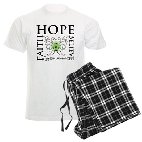 Faith Hope Lymphoma Men's Light Pajamas