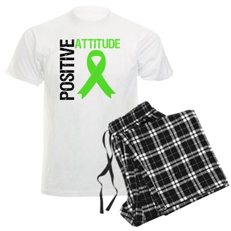 Lymphoma Positive Attitude Men's Light Pajamas
