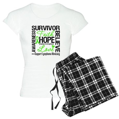 Survivor Collage Lymphoma Women's Light Pajamas