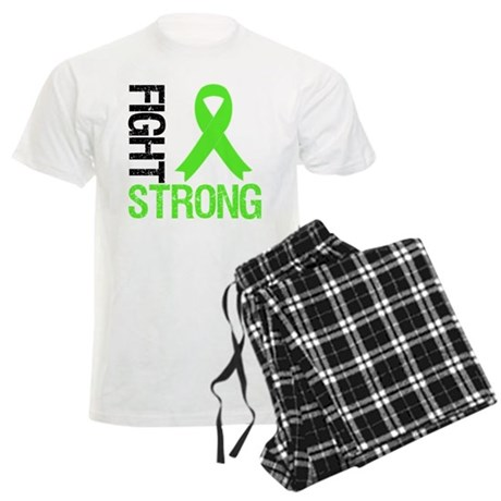 Lymphoma Fight Strong Men's Light Pajamas