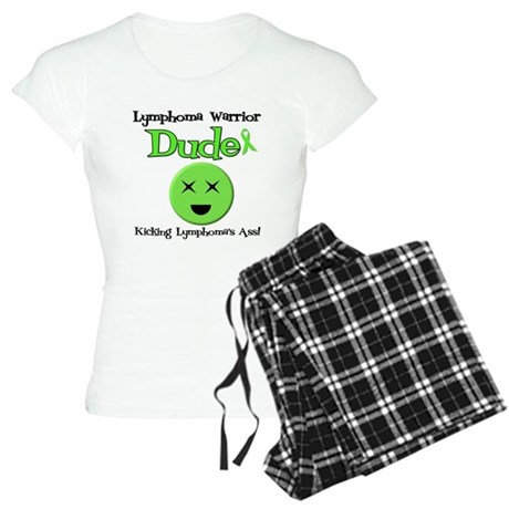 Lymphoma Warrior Dude Women's Light Pajamas