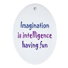 Imagination and Intelligence Ornament (Oval)