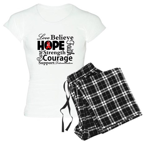 Blood Cancer Hope Collage Women's Light Pajamas