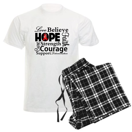 Blood Cancer Hope Collage Men's Light Pajamas