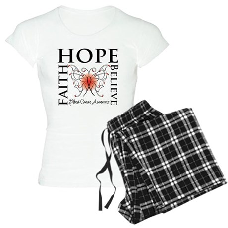 Blood Cancer Faith Hope Women's Light Pajamas