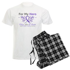 Hero Hodgkin's Disease Men's Light Pajamas