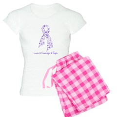 Butterfly Hodgkin's Lymphoma Women's Light Pajamas
