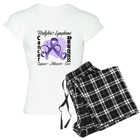Ribbon Hodgkins Lymphoma Women's Light Pajamas