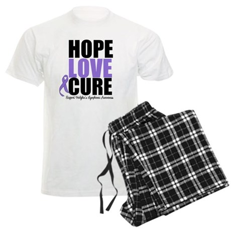 Hodgkins Hope Love Cure Men's Light Pajamas