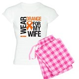 I Wear Orange For My Wife pajamas