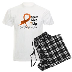 Never Give Up - Leukemia Men's Light Pajamas