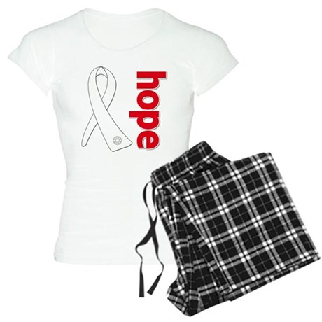Hope Ribbon Lung Cancer Women's Light Pajamas