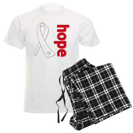Hope Ribbon Lung Cancer Men's Light Pajamas