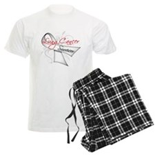Survivor Ribbon Lung Cancer Pajamas