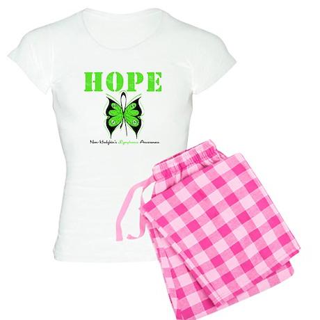 NonHodgkinsHopeButterfly Women's Light Pajamas