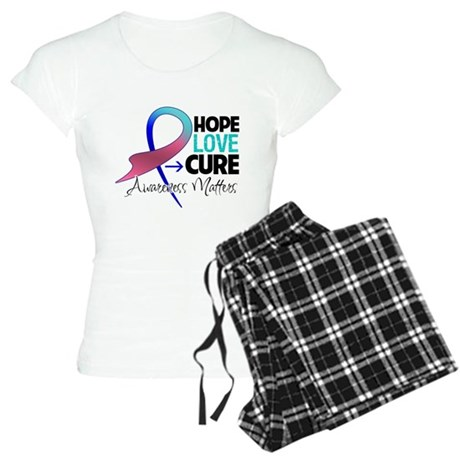 HopeLoveCureThyroidCancer Women's Light Pajamas