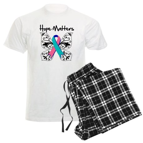 Thyroid Cancer Hope Matters Men's Light Pajamas