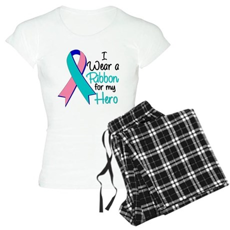 I Wear Ribbon Thyroid Cancer Women's Light Pajamas