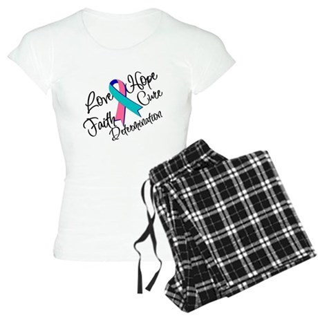 Thyroid Cancer Love Hope Women's Light Pajamas