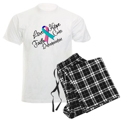 Thyroid Cancer Love Hope Men's Light Pajamas