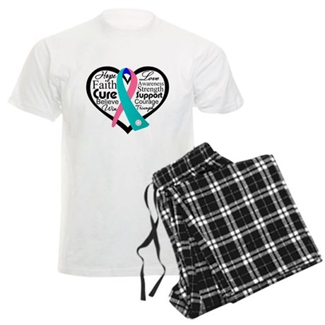 Thyroid Cancer Heart Men's Light Pajamas