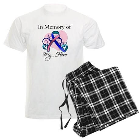 In Memory Thyroid Cancer Men's Light Pajamas