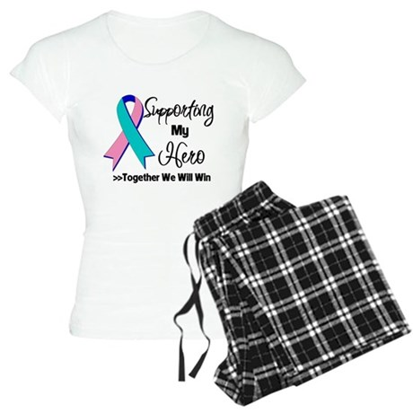 Thyroid Cancer Support Hero Women's Light Pajamas