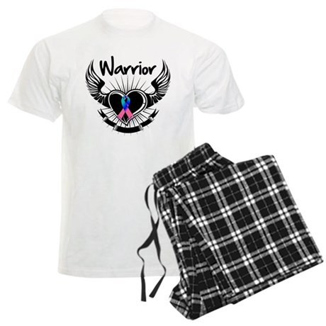 Warrior Thyroid Cancer Men's Light Pajamas