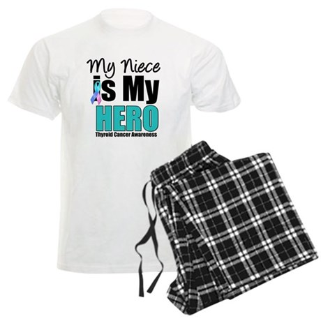 Thyroid Cancer Hero Men's Light Pajamas