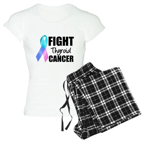Fight Thyroid Cancer Women's Light Pajamas