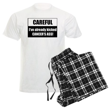 Kicked Cancer's Ass Men's Light Pajamas