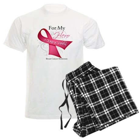 ForMyHeroBreastCancer Men's Light Pajamas