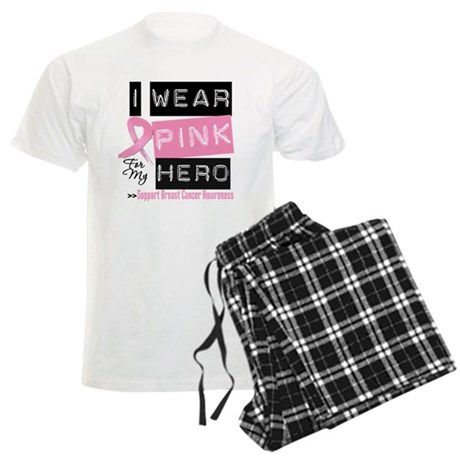 Pink Hero Breast Cancer Men's Light Pajamas