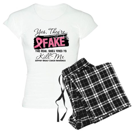 Fake - Breast Cancer Women's Light Pajamas