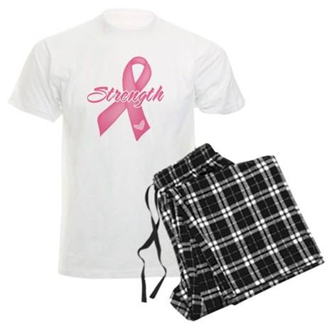 Strength - Breast Cancer Men's Light Pajamas