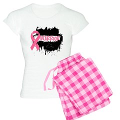 Breast Cancer Warrior Pink Ri Women's Light Pajama