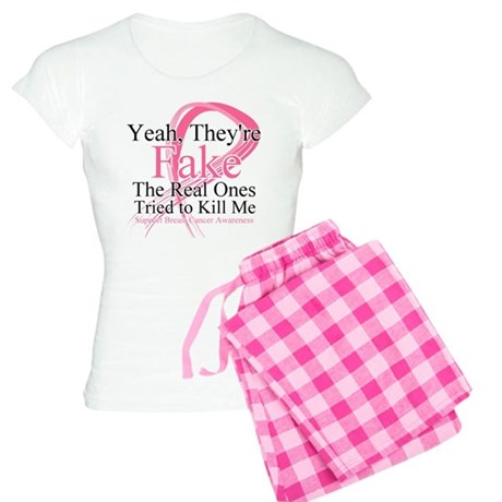 Fake 2 - Breast Cancer Women's Light Pajamas